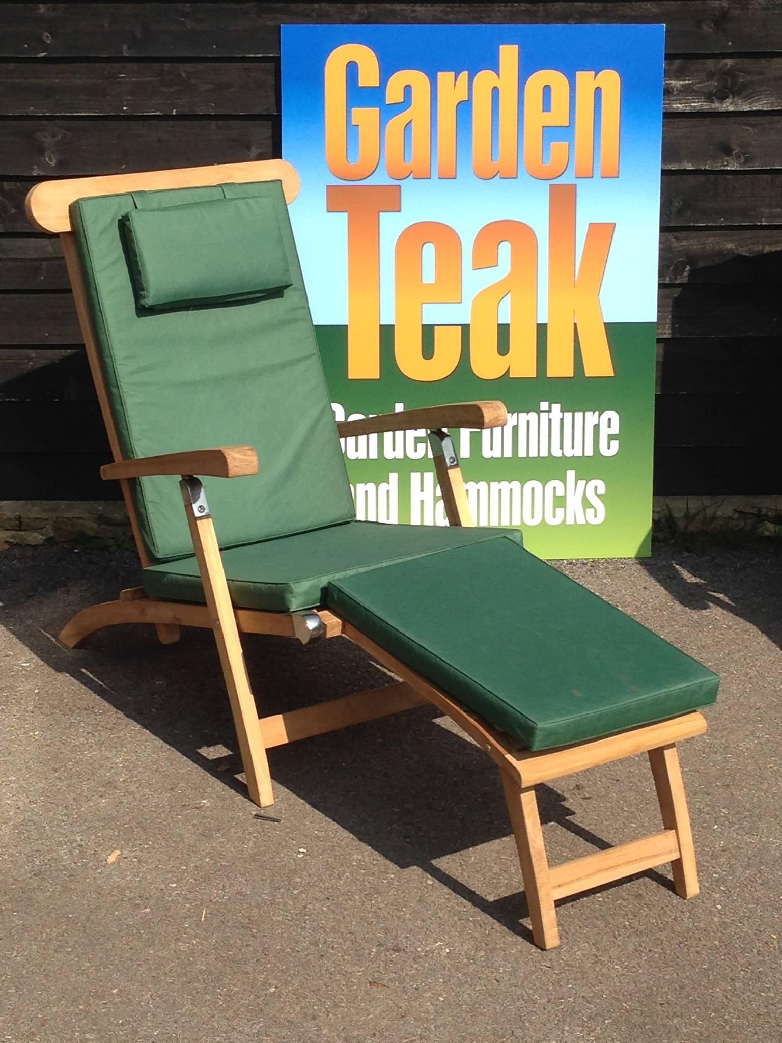 Villa & Hut Teak Steamer Chair with Cushion £199
